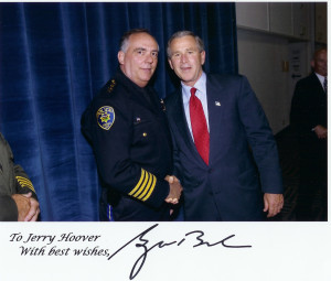 Chief Jerry Hoover and President George Bush